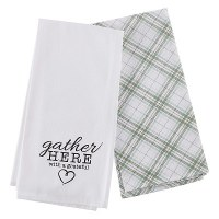 Tea Towel  Set Gather Here Wit