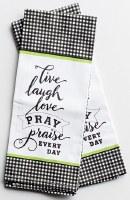 Tea Towel - Live Laugh Love