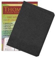 NASB Thompson Chain Bible - Black Leather