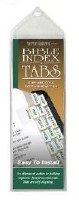 INDEX TABS-VERSE FINDERS SL/GO