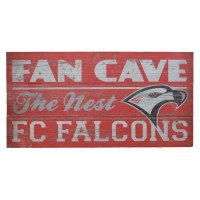 Rustic Plank Fan Cave Sign