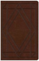 ESV Thinline Bible - Chestnut Wood Panel TruTone