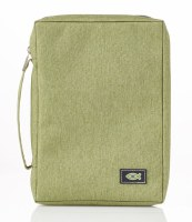 Bible Cover - Canvas, Light Green