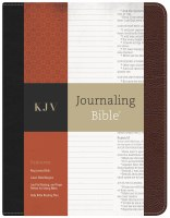KJV Journaling Bible- Black and Brown