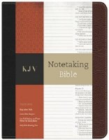 KJV Notetaking Bible- Black/Brown Bonded Leather