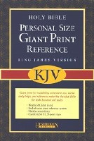 KJV Giant Print Reference Bible - Black Bonded Leather