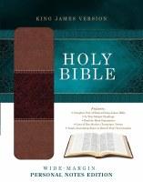 KJV Journaling Bible - Black Bonded Leather