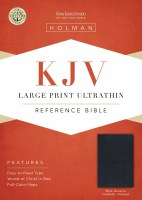KJV Ultrathin Reference Bible - Black Genuine Leather