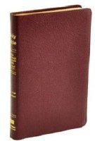 NASB Ultrathin Reference Bible- Burgundy Genuine Leather