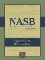 NASB Giant Print Reference Bible - Black Genuine Leather