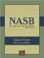 NASB Giant Print Updated Reference Bible- Burgundy Leatherflex