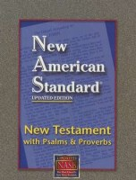 NASB New Testament with Psalms & Proverbs - Black Bonded Leather