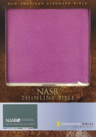 NASB Thinline Bible - Orchid/Butter Cream Imitation Leather