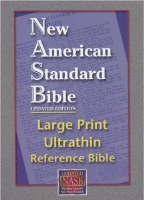 NASB Ultrathin Large Print Reference Bible - Black Calfskin