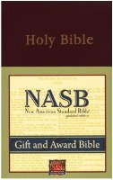 NASB Gift & Award Bible #931 - Burgundy Imitation Leather