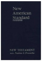 NASB New Testament with Psalms and Provertb - Black Bonded Leather