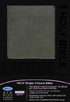 NKJV Large Print Single Column Bible- Black