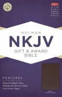 NKJV Gift & Award Bible - Brown Imitation Leather