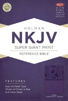 NKJV Super Giant Print Reference Bible - Purple Imitation Leather