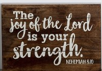 Plaque, The Joy of the Lord