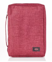 Bible Cover - Canvas, Burgundy, Large
