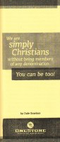 WE ARE SIMPLY CHRISTIANS WITHO