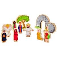 Jesus Lives Wood Play Set
