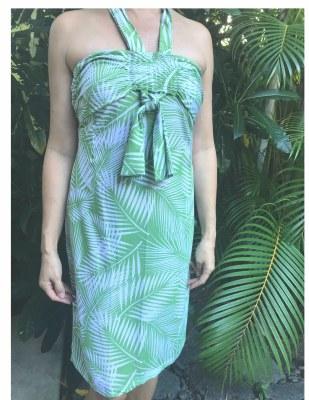 Hillary Dress Pesto Green Palm