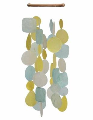 Chime Capiz Yellow Aqua