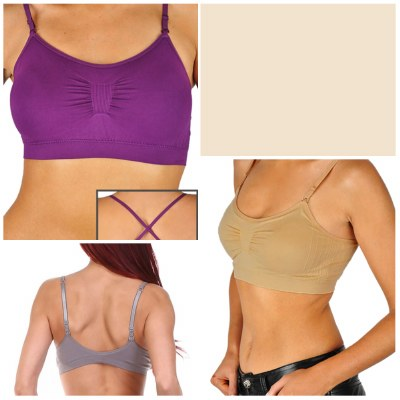 Bralette Convertible Strap Ruched with Pad