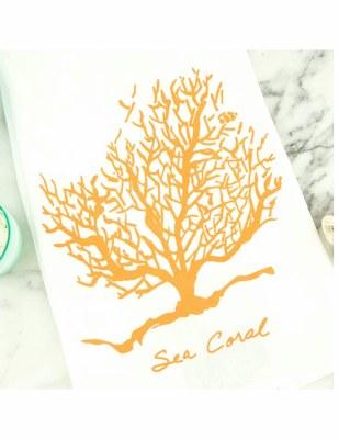 Tea Towel Sea Coral