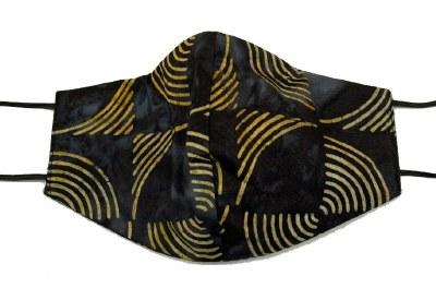 Face Mask Batik Circles Black
