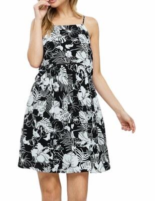 Floral Black Dress LG