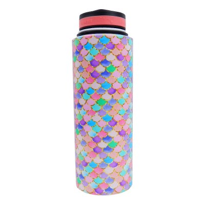 40oz Vacuum Insulated Flask Mermaid Scales Pink