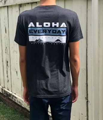 Aloha Everyday Black Tee Small