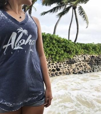 Kailua Tee Aloha Palm Tank