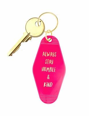 Retro Keychain Stay Humble