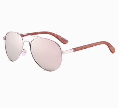 Sunglasses Polarized Rosewood Temple Hawaii Rose Gold