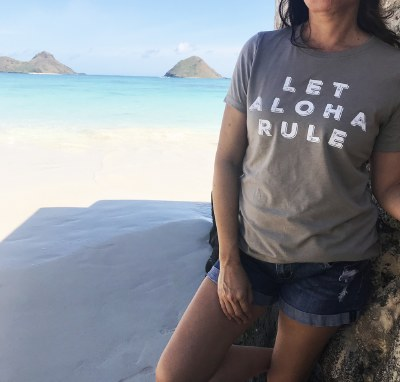 Aloha Rule Tee Stone Small