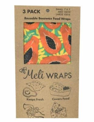 Meli Wrap Tropical Papaya 3pk