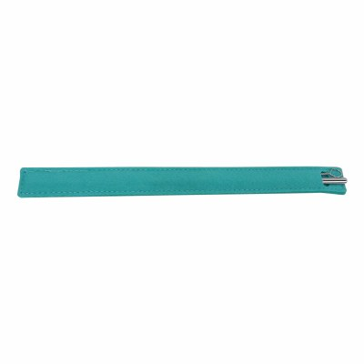 Stainless Steel Straw, Brush & Teal Green Sleeve