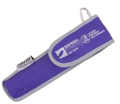 Surfrider Foundation Utensil Set Bamboo Purple