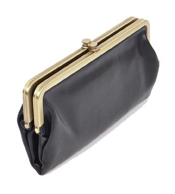 Wallet Vintage Kiss Lock Black
