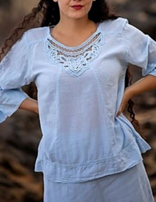 Calle Blouse Round Bl Opal SM