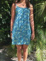 Anything Dress Hibiscus Blue Green