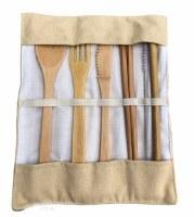 Bamboo Cutlery Travel Set Tan