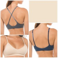 Bralette Convertible Strap Padded Beige