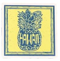 Coaster Ceramic Pineapple Hawaii