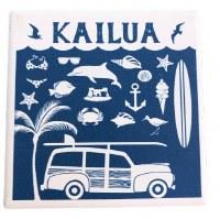 Coaster Ceramic Kailua Beach Icon