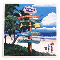 Coaster Ceramic Sign Post Beach
